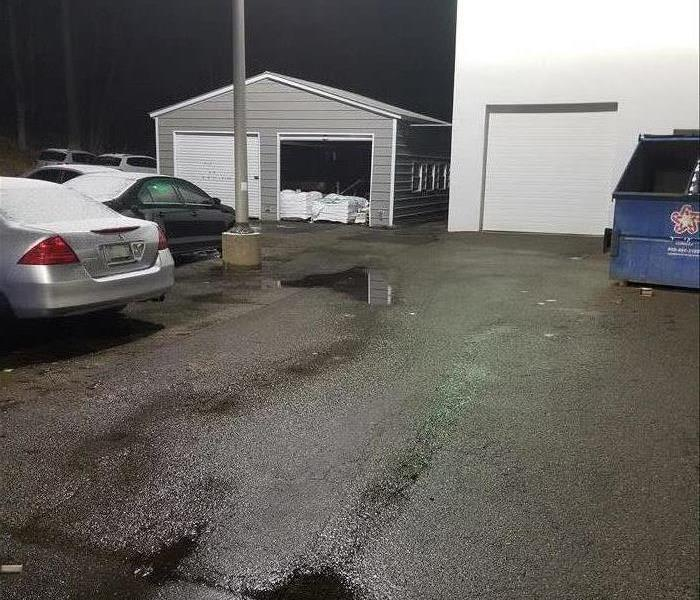 parking lot without mud