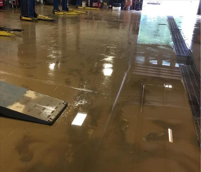Mud and flooding in garage