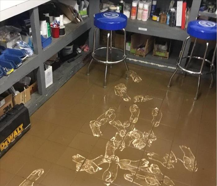 Mud and flooding inside
